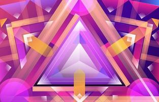 Creative Abstract Overlapping Geometric Purple Pink Yellow vector