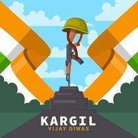 Heroes Grave Kargil Vijay Diwas vector