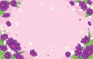flor morada vector