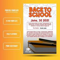 Back to school flyer or ads template with white background vector