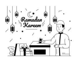 Ramadan Donation and charity vector
