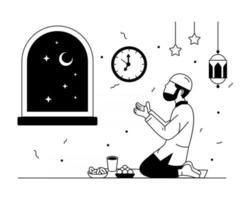 iftar oración y adoración vector