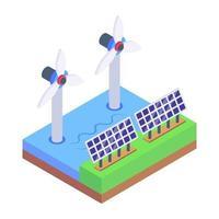 energía solar y energía vector
