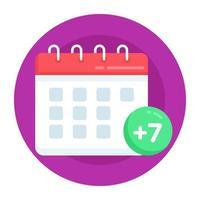 calendario de la semana para llevar al bebé vector