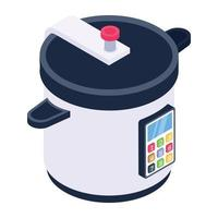 Electric Rice Cooker vector