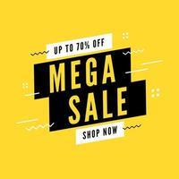 Mega sale special offer. End of season special offer banner. vector
