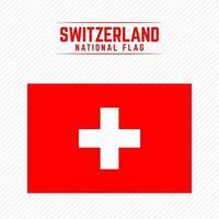 National Flag of Switzerland vector
