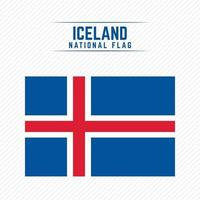 National Flag of Iceland vector