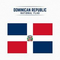 National Flag of Dominican Republic vector