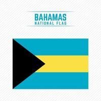 National Flag of Bahamas vector