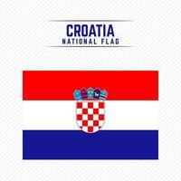 National Flag of Croatia vector