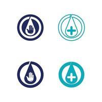 icono de desinfectante de manos icono de botella aislado sobre fondo blanco concepto de desinfección botella de alcohol de gel de lavado para la ilustración de vector de higiene y conjunto de vectores de diseño