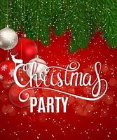 Abstract Beauty Christmas and New Year Party Background. Vector Illustration