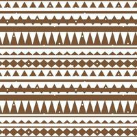 Horizontal Brown white vector monochrome abstract geometric seamless border pattern. Illustration contains lines, dots, triangles like mountains or trees for textile