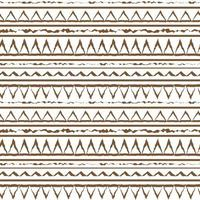 Brown white vector monochrome  winter abstract geometric seamless pattern. Illustration contains lines, dots, triangles. Horizontal print stripes for textiles