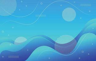 Gradient Abstract Blue Background vector