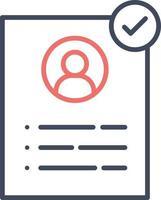 icono de cv aprobado vector