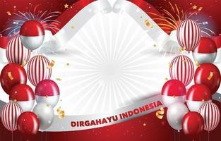 Fondo rojo y blanco para el día de la independencia de Indonesia. vector