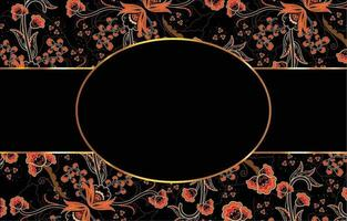 Elegant Batik with Shades of Black and Orange vector