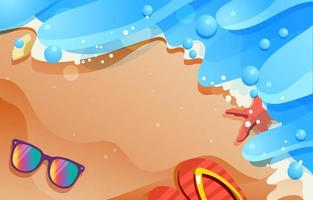 Beach Holiday on Summer Background vector