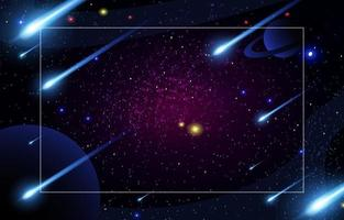 Falling Lights Meteor in Space Background vector