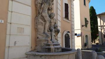 fountain placed in front of the cathedral of terni video