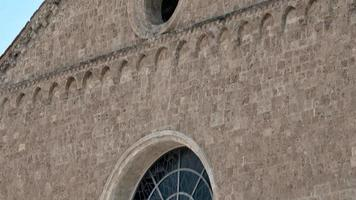 church of san francesco terni detail of the rose window and the head of the church video