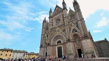 cathedral of orvieto in the center of the town video