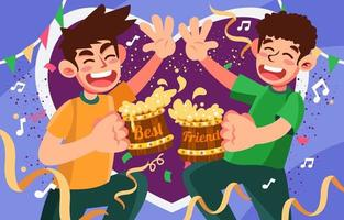Cheers with Best Friend vector