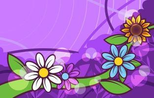 flor de flor fresca vector