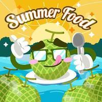 Fresh Melon Character vector