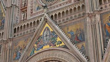 Detail of the rose window of the Cathedral of Orvieto video