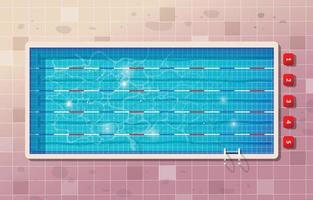 Sport Swimming Pool Background vector