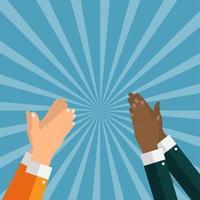 Departamento. concepto de aplauso de éxito. manos aplaudiendo. ilustración vectorial vector