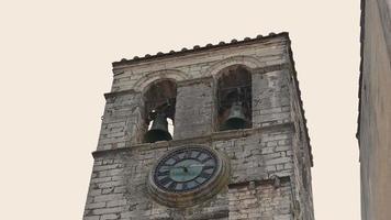 bell tower of the church of san francesco di piediluco video