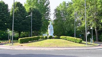 Terni statue of St. Valentine patron saint of lovers at the rotunda video
