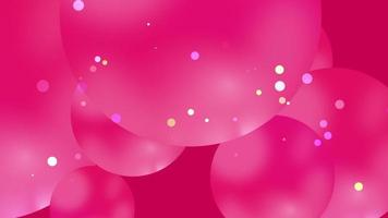 Beautiful cute pink ball abstract background video