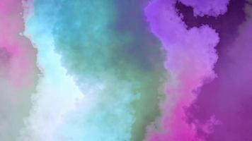 Beautiful smoky or watercolor gradient abstract background video