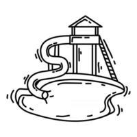 Playground kids pool ,playing,children,kindergarten. hand drawn icon set, outline black, doodle icon, vector icon