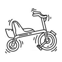 Playground kids bike,playing,children,kindergarten. hand drawn icon set, outline black, doodle icon, vector icon