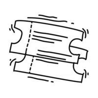 Playground kids ticket ,playing,children,kindergarten. hand drawn icon set, outline black, doodle icon, vector icon