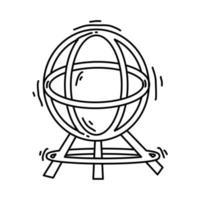 Playground kids globe,playing,children,kindergarten. hand drawn icon set, outline black, doodle icon, vector icon