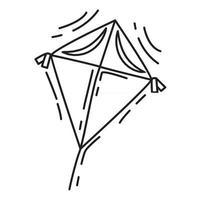 Playground kids kite ,playing,children,kindergarten. hand drawn icon set, outline black, doodle icon, vector icon design.