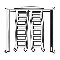 Playground kids climbing ladder ,playing,children,kindergarten. hand drawn icon set, outline black, doodle icon, vector icon