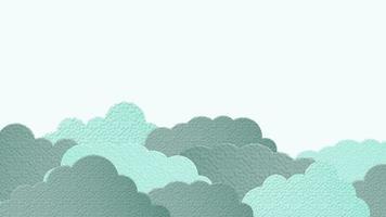 Beautiful light blue cloud background video