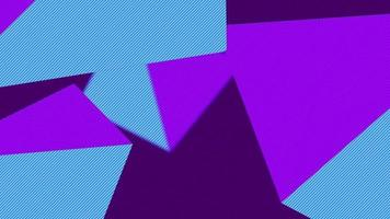 beau triangle violet bleu abstrait forme video