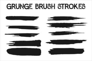 Grunge Brush Stroke Paint Boxes Backgrounds vector