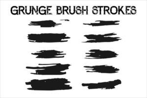 artistic black paint brush strokes vector