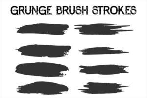 Brush strokes bundle. vector