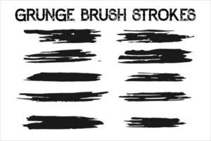 Grunge Lines And Strokes Vectors